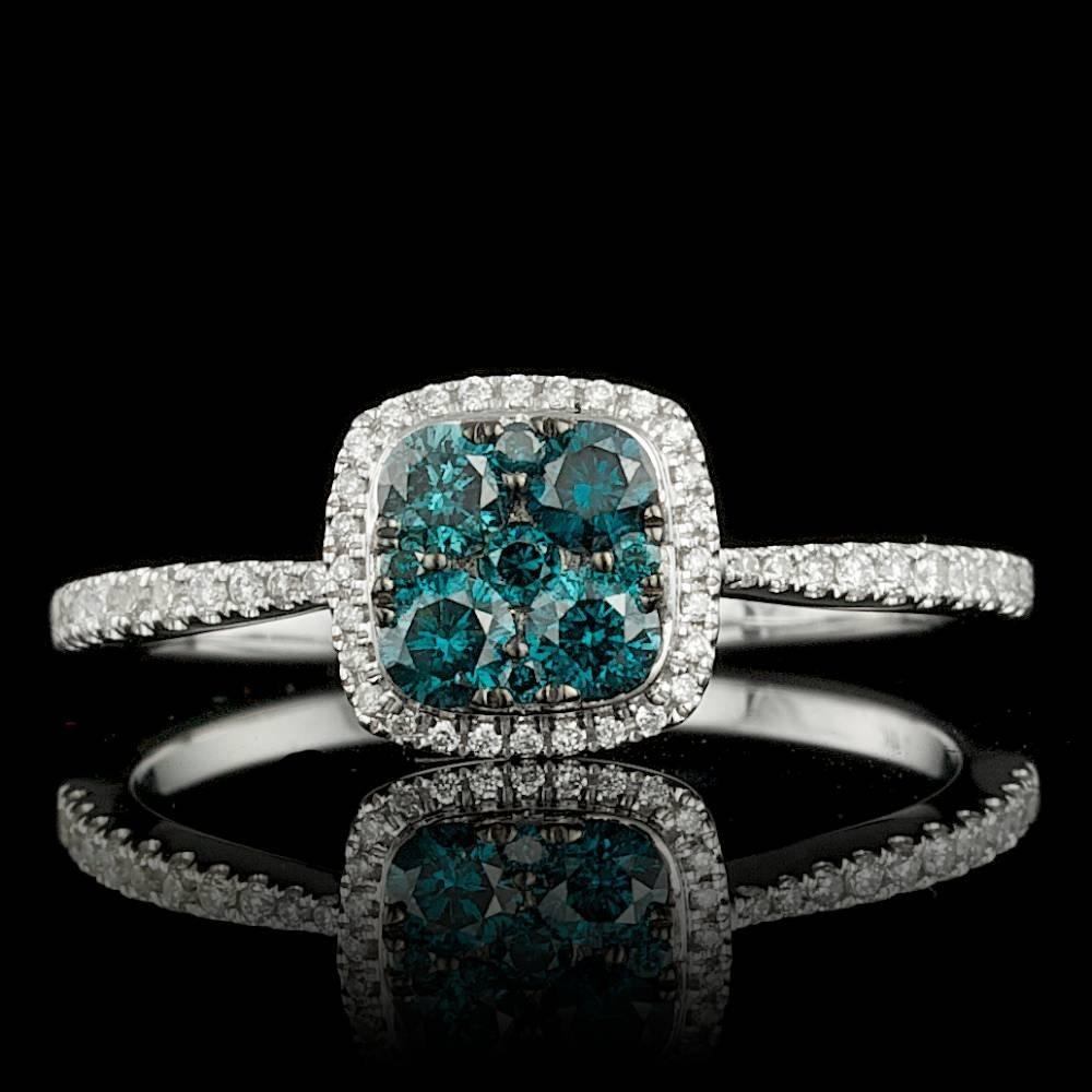 14k White Gold .53ct Diamond Ring