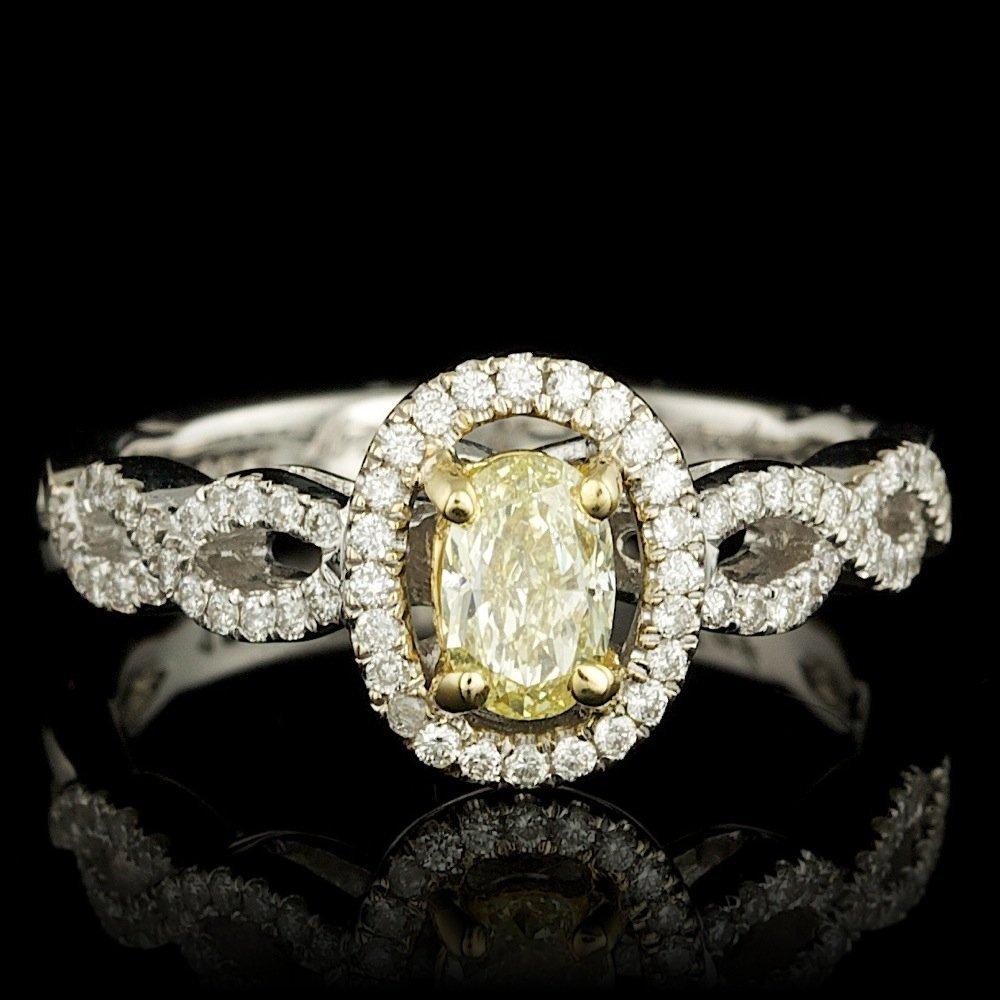 18k Multi-Tone Gold .75ct Diamond Ring