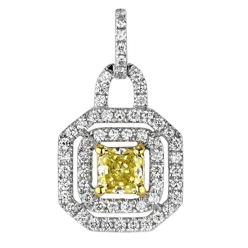 18k Multi-Tone Gold .98ct Diamond Pendant