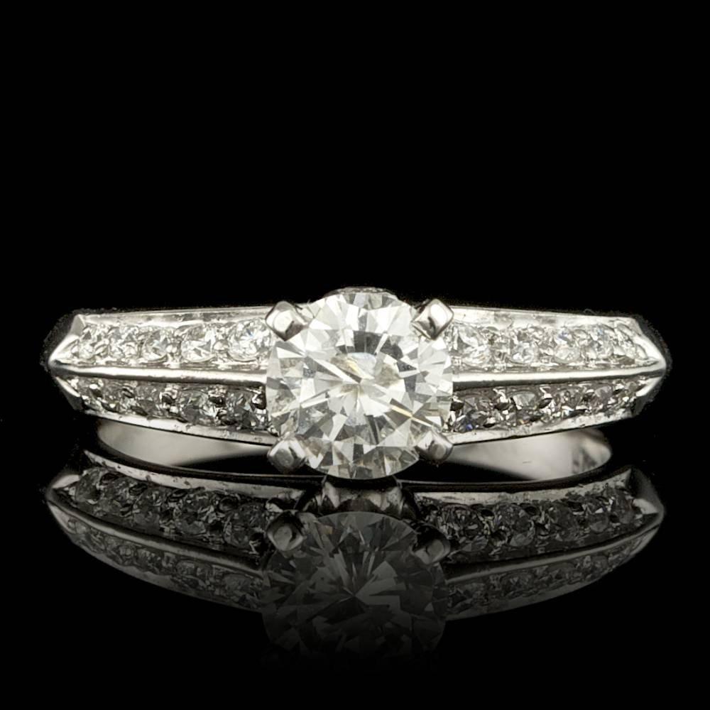 Platinum .92ct Diamond Ring