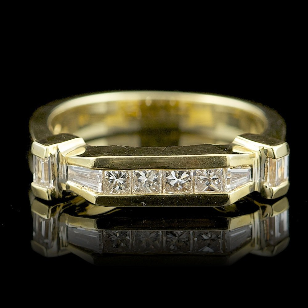 18k Yellow Gold .7ct Diamond Ring