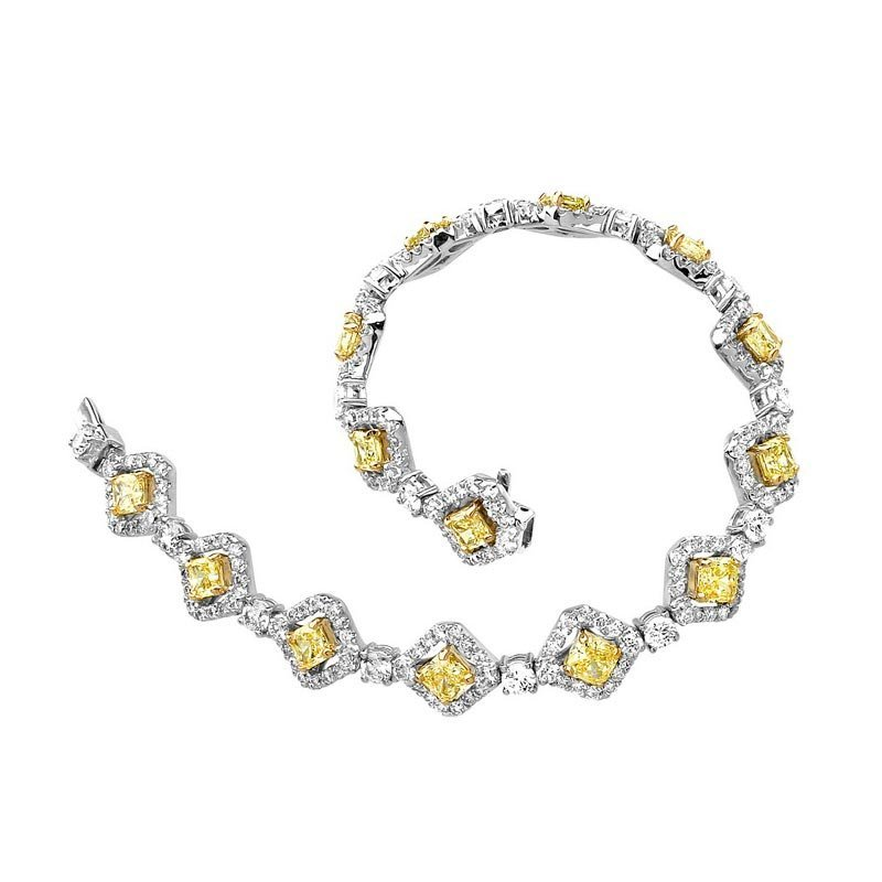 18k Multi-Tone Gold 8.66ct Diamond Bracelet