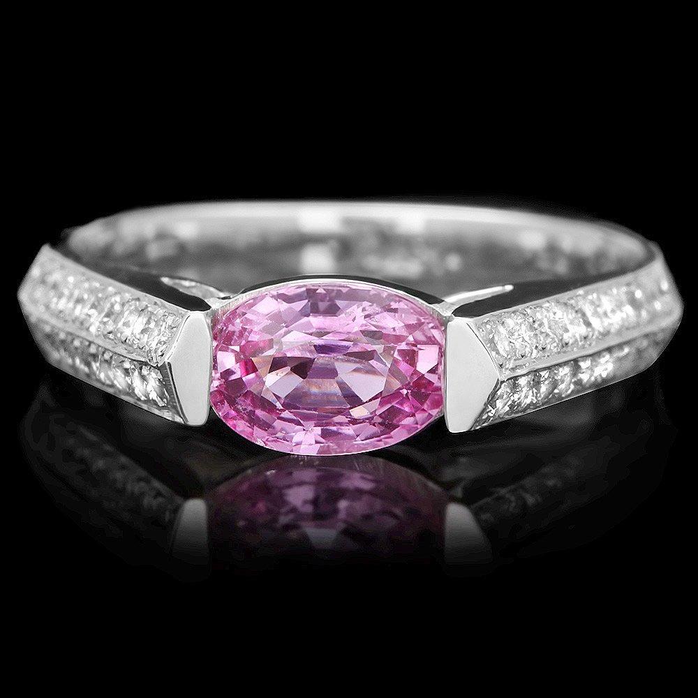 18k Gold 1.20ct Sapphire 0.45ct Diamond Ring
