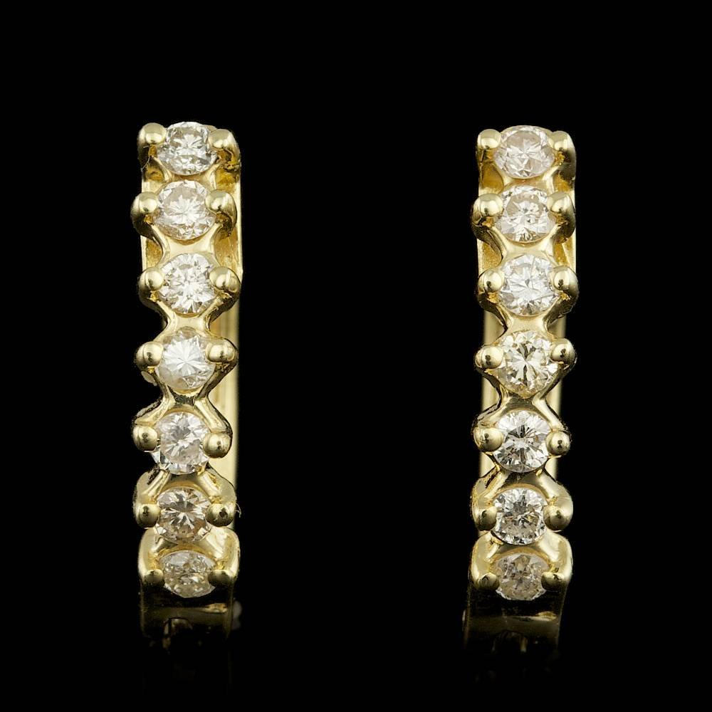 14k Yellow Gold 0.40ct Diamond Earrings