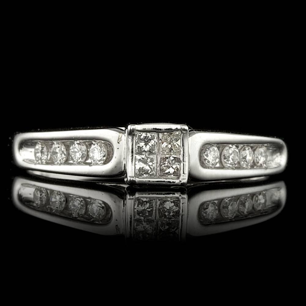 10k White Gold .4ct Diamond Ring