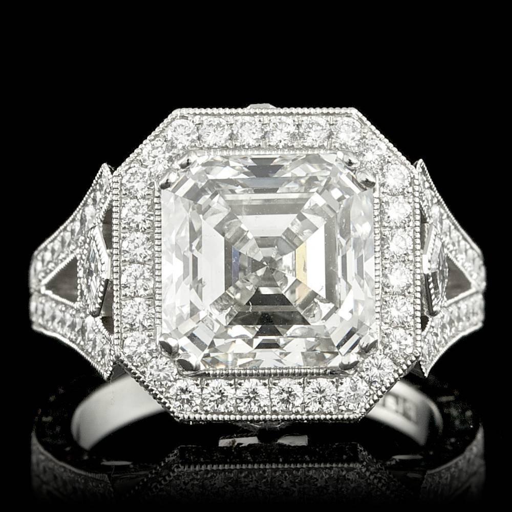 Platinum 7.45ct Diamond Ring