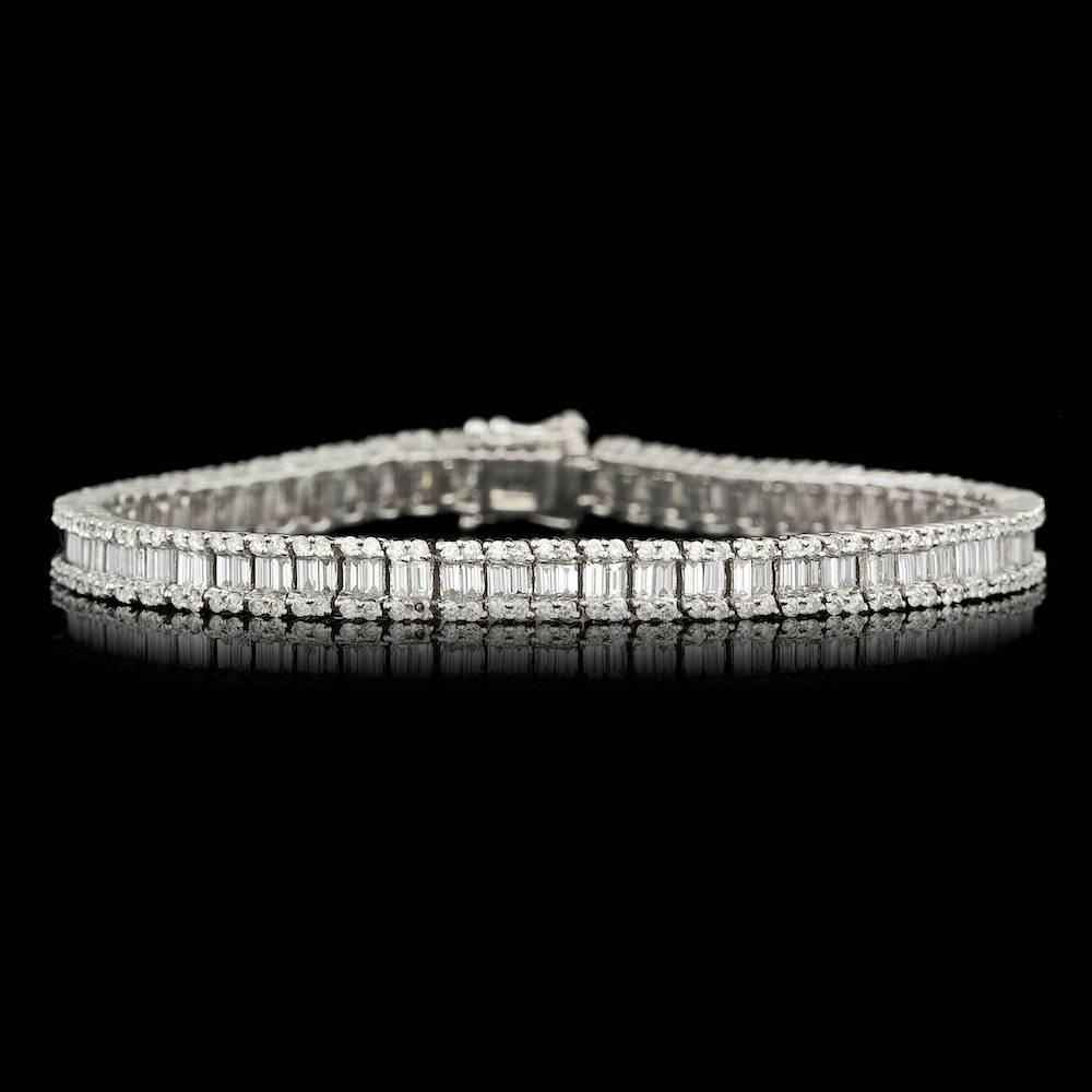 18k White Gold 5.05ct Diamond Bracelet