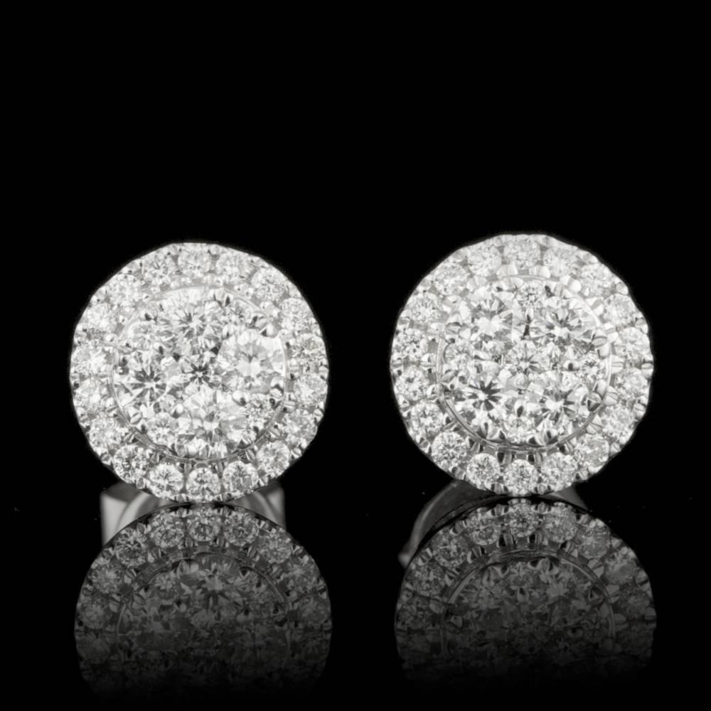 14k White Gold 0.50ct Diamond Earrings