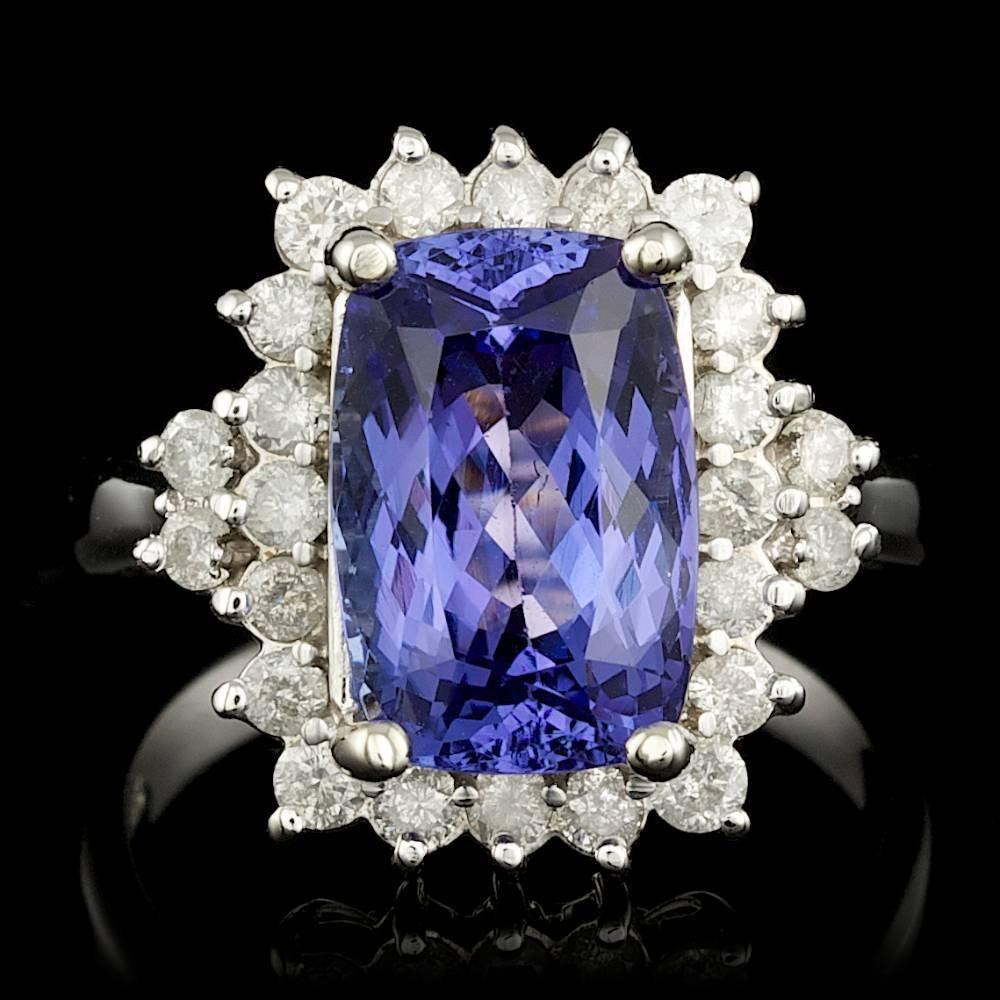 14k Gold 4.30ct Tanzanite 0.70ct Diamond Ring