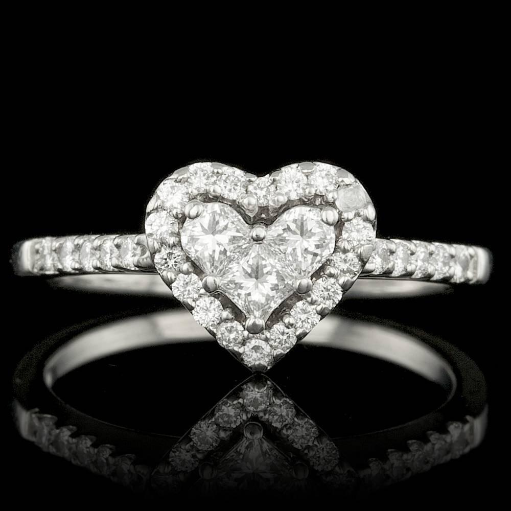 Platinum .85ct Diamond Ring