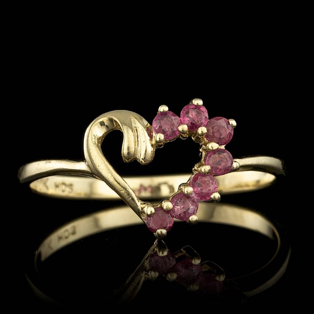 10k Yellow Gold 0.35ct Ruby Ring