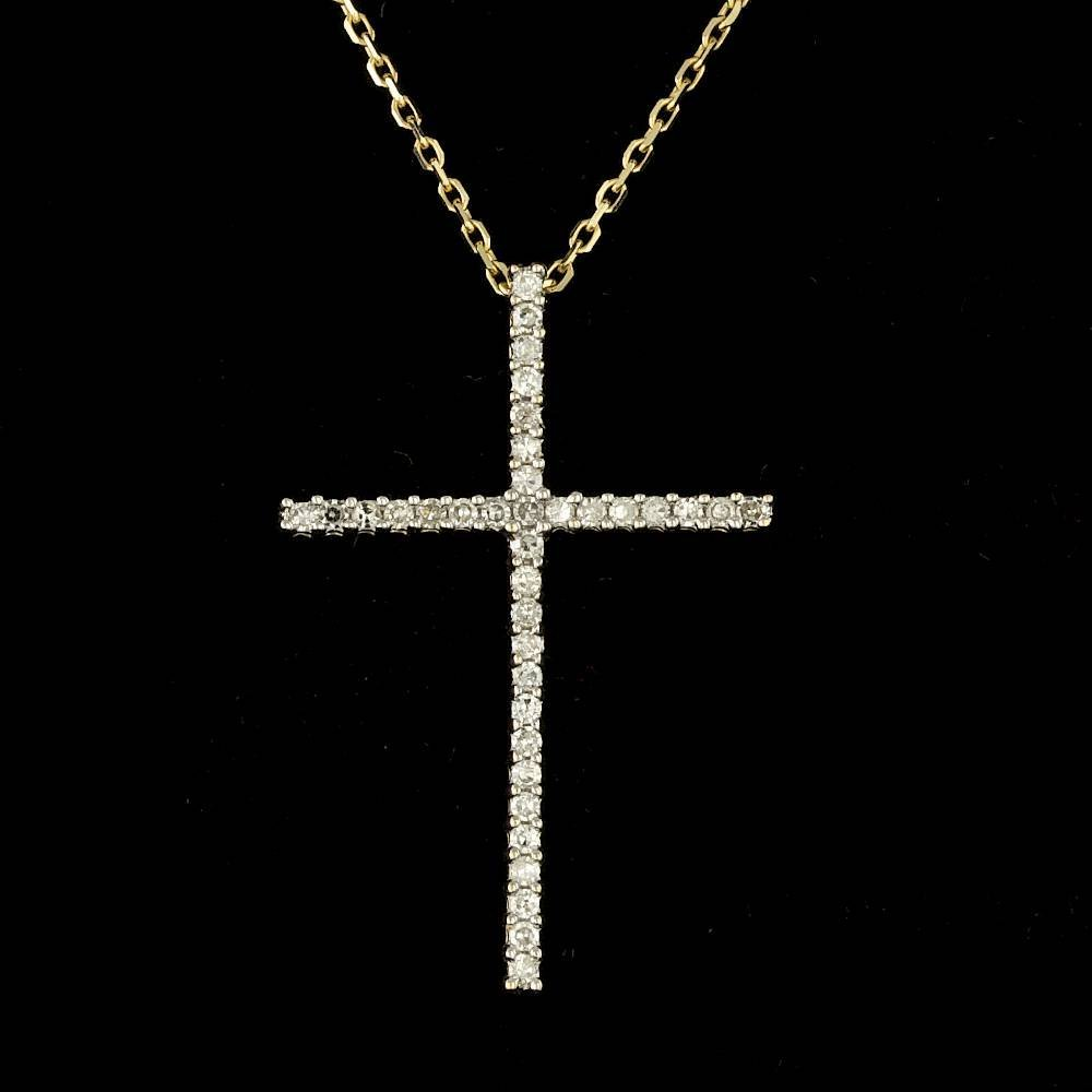 14k Multi-Tone Gold 0.25ct Diamond Pendant