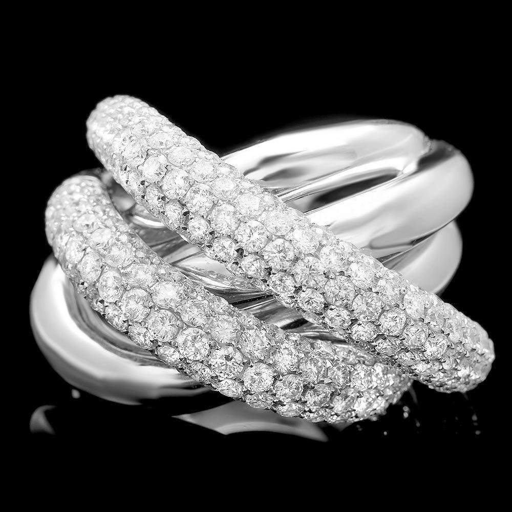 18k White Gold 4.20ct Diamond Ring