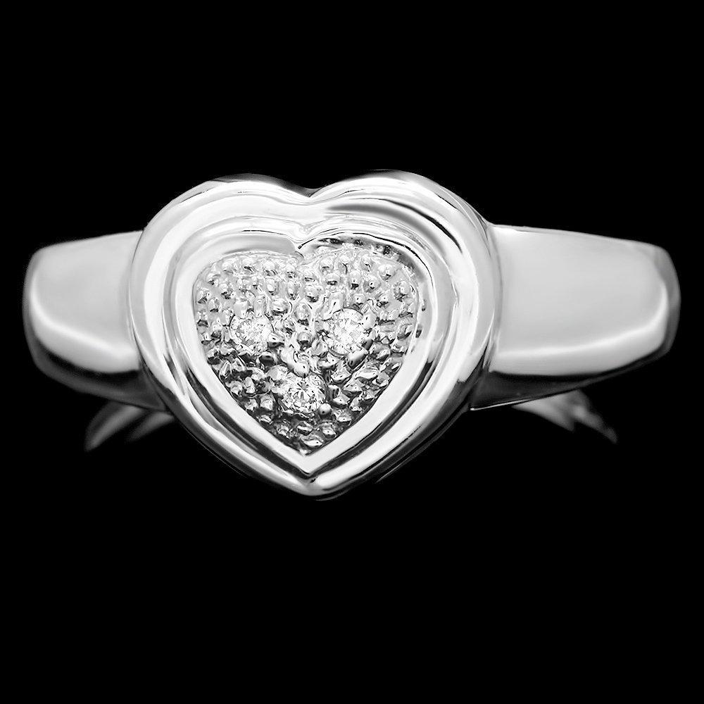 14k White Gold 0.05ct Diamond Ring