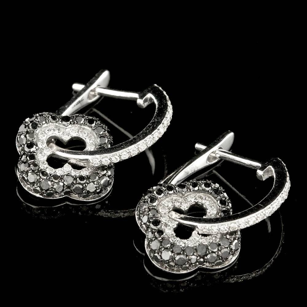14k White Gold .8ct Diamond Earrings