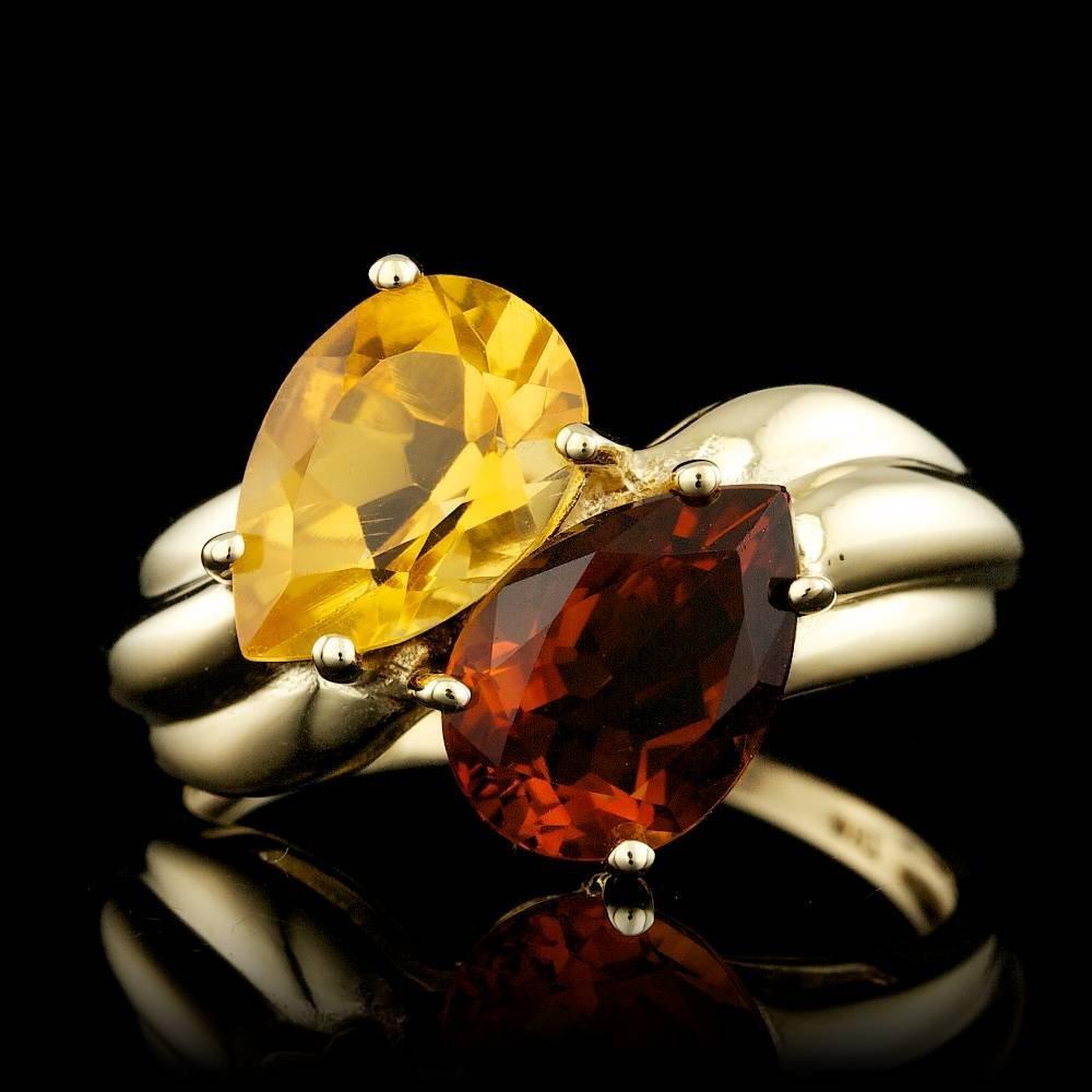 10k Yellow Gold 4.00ct Garnet Ring