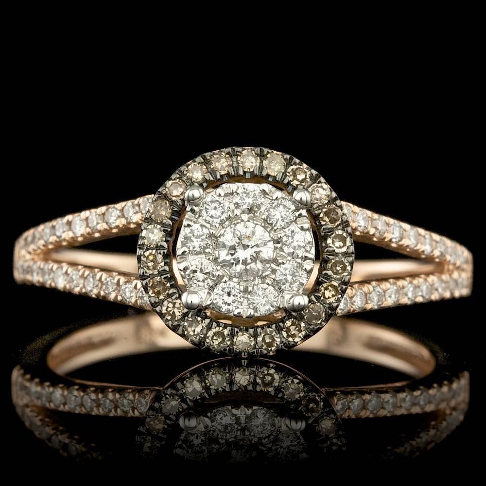 14k Rose Gold .4ct Diamond Ring