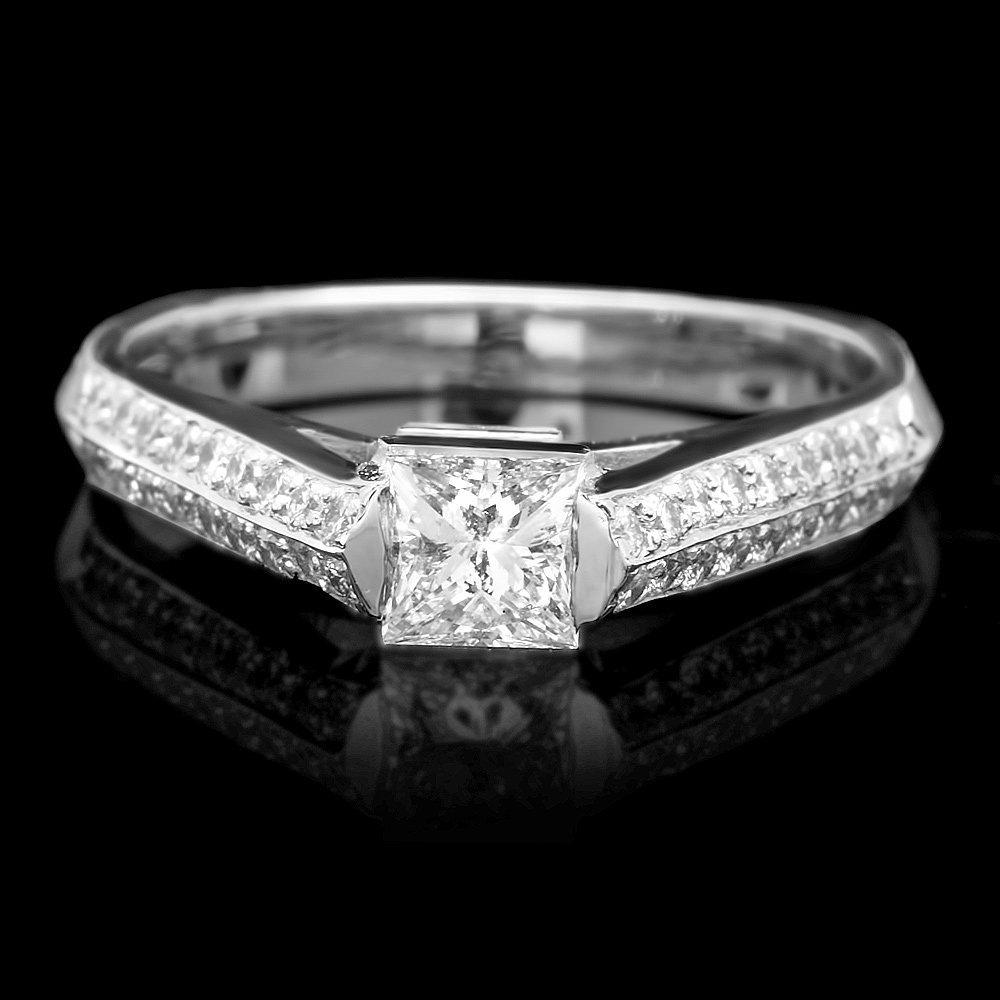 18k White Gold .57ct Diamond Ring