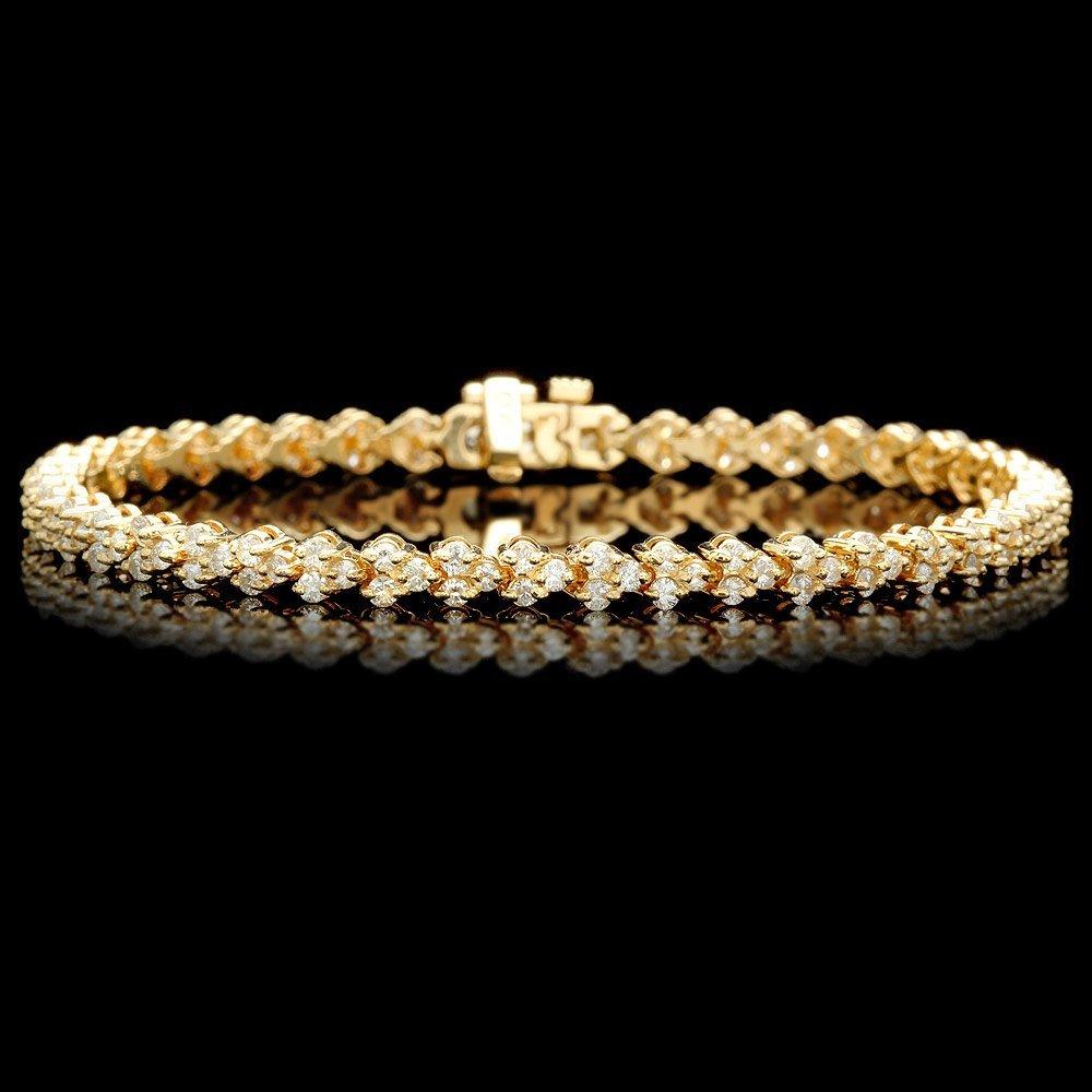 14k Yellow Gold 3.00ct Diamond Bracelet