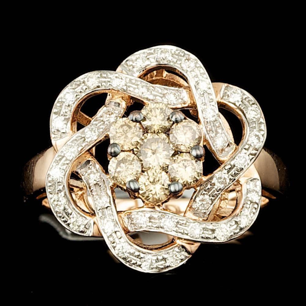 14k Rose Gold .86ct Diamond Ring