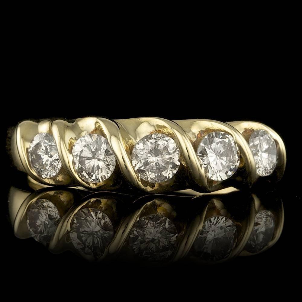 14k Yellow Gold 1.00ct Diamond Ring