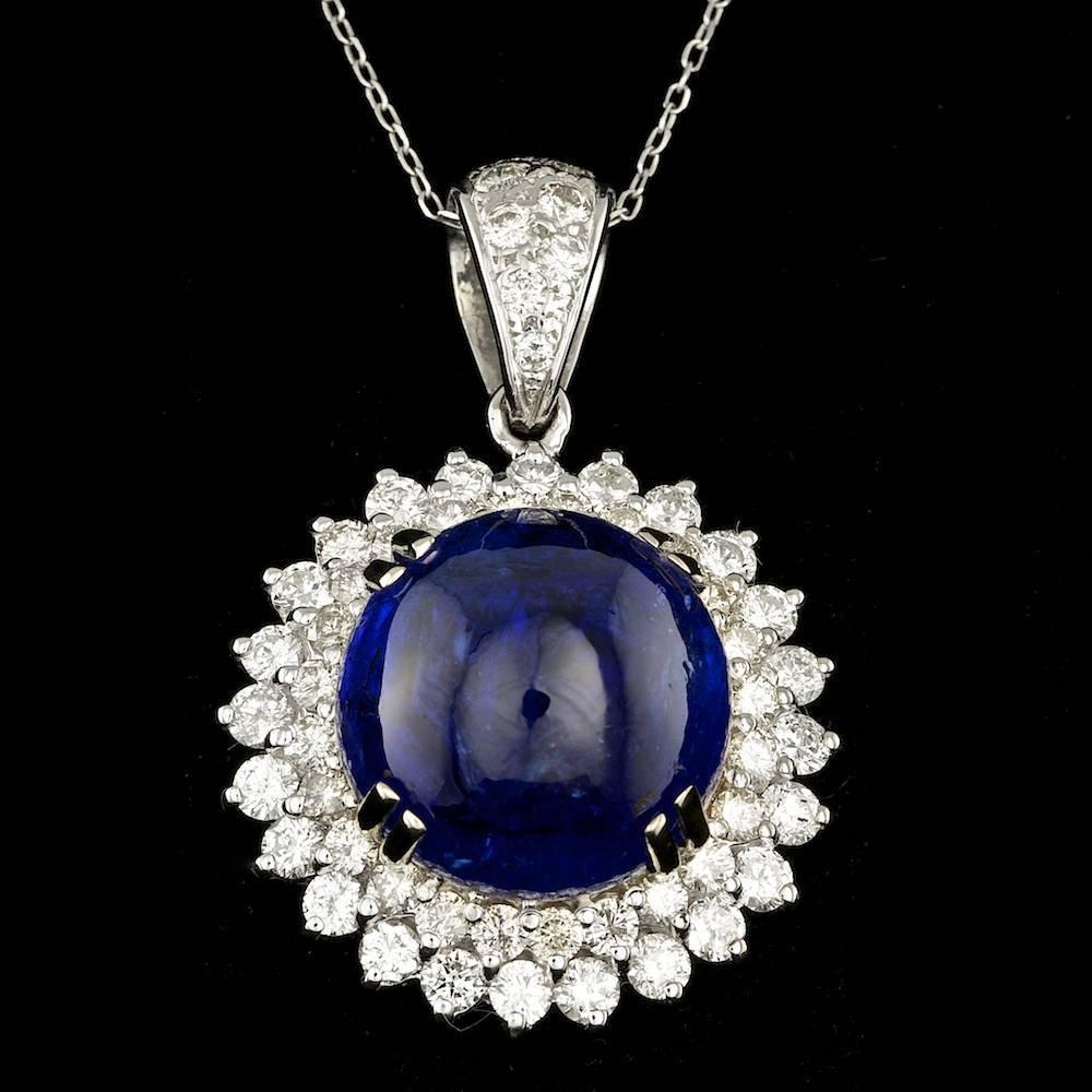 114 Gold 22.50ct Tanzanite 3.30ct Diamond Pendant