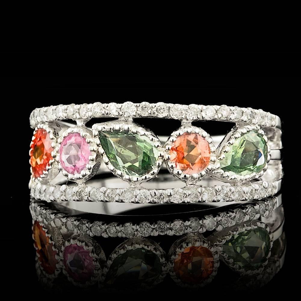 14k Gold 1.59ct Sapphire 0.34ct Diamond Ring