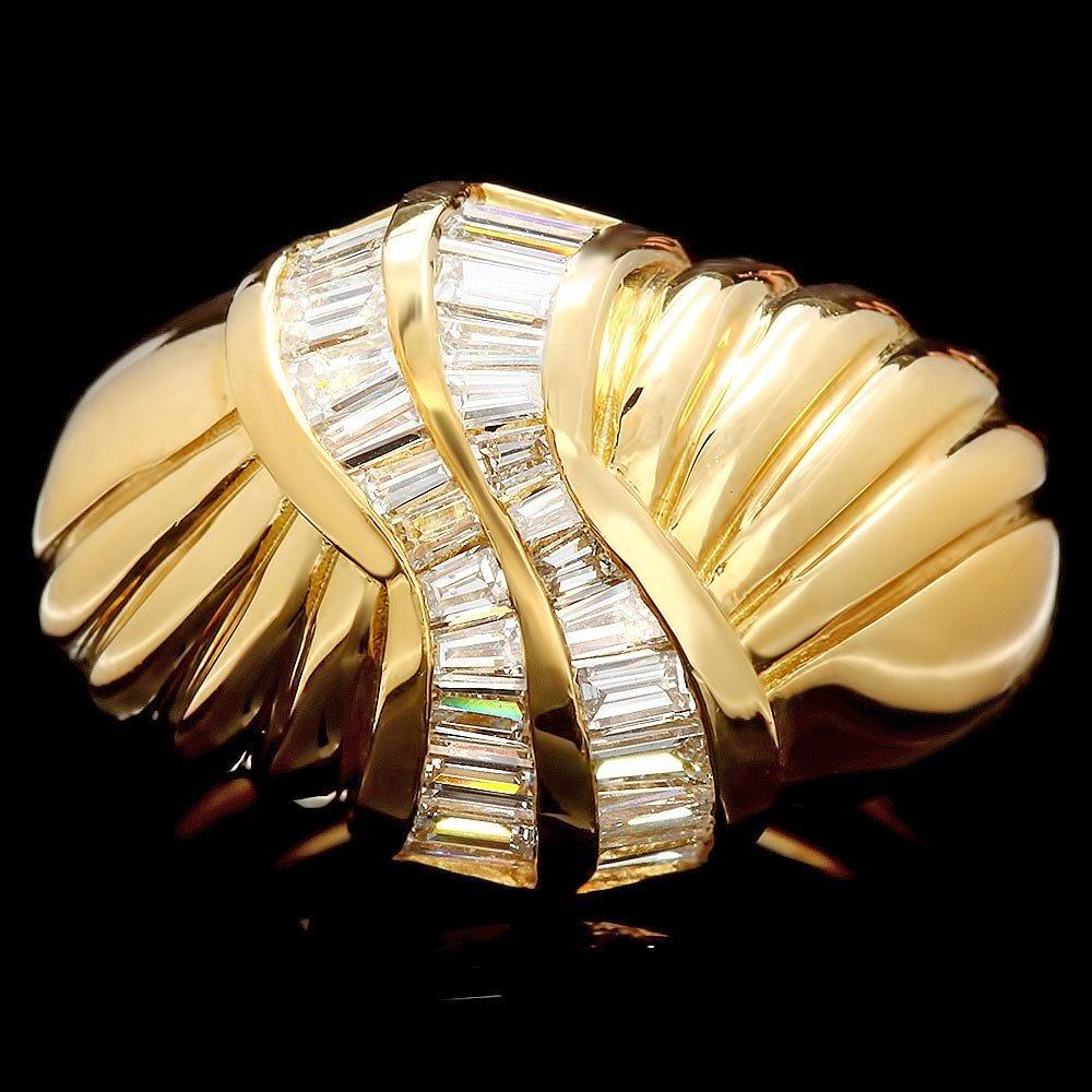 18k Yellow Gold 1.35ct Diamond Ring