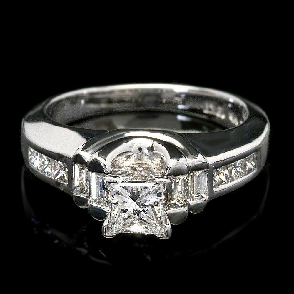14k White Gold 1ct Diamond Ring