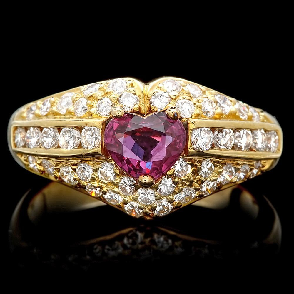 14k Gold 0.75ct Tourmaline 1.10ct Diamond Ring