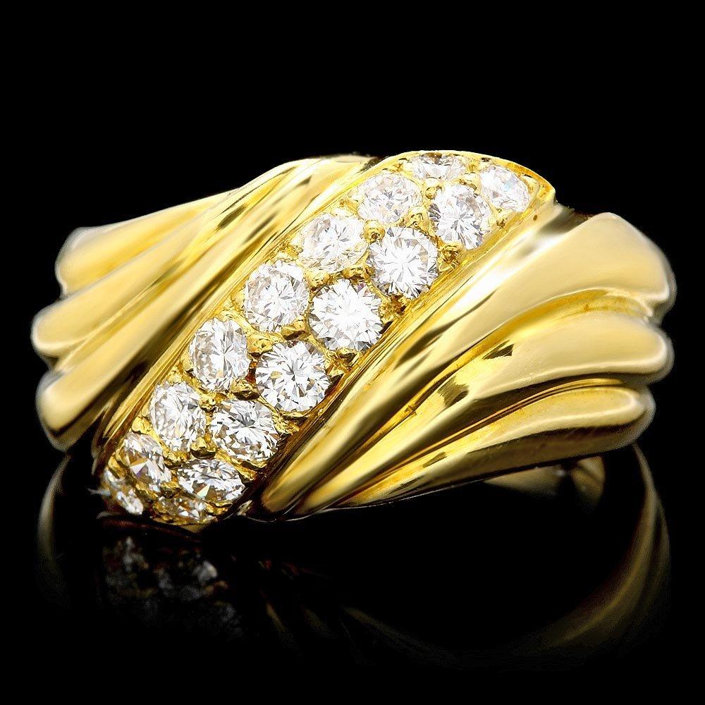 18k Yellow Gold 0.80ct Diamond Ring