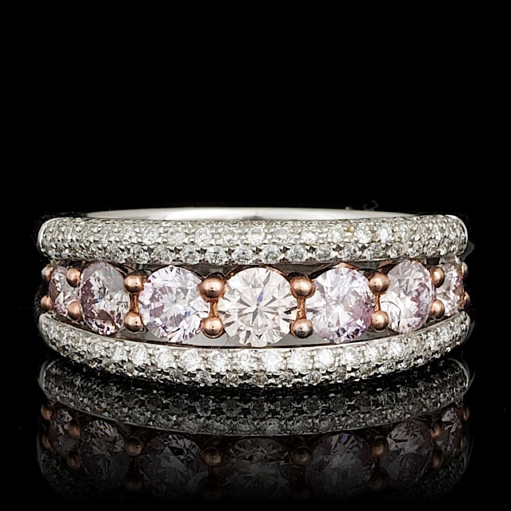 18k Multi-Tone Gold 1.37ct Diamond Ring