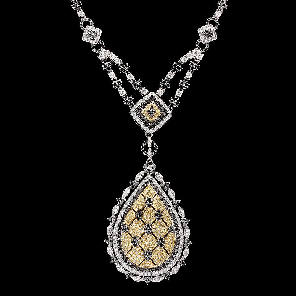 18k White Gold 8.6ct Diamond Necklace