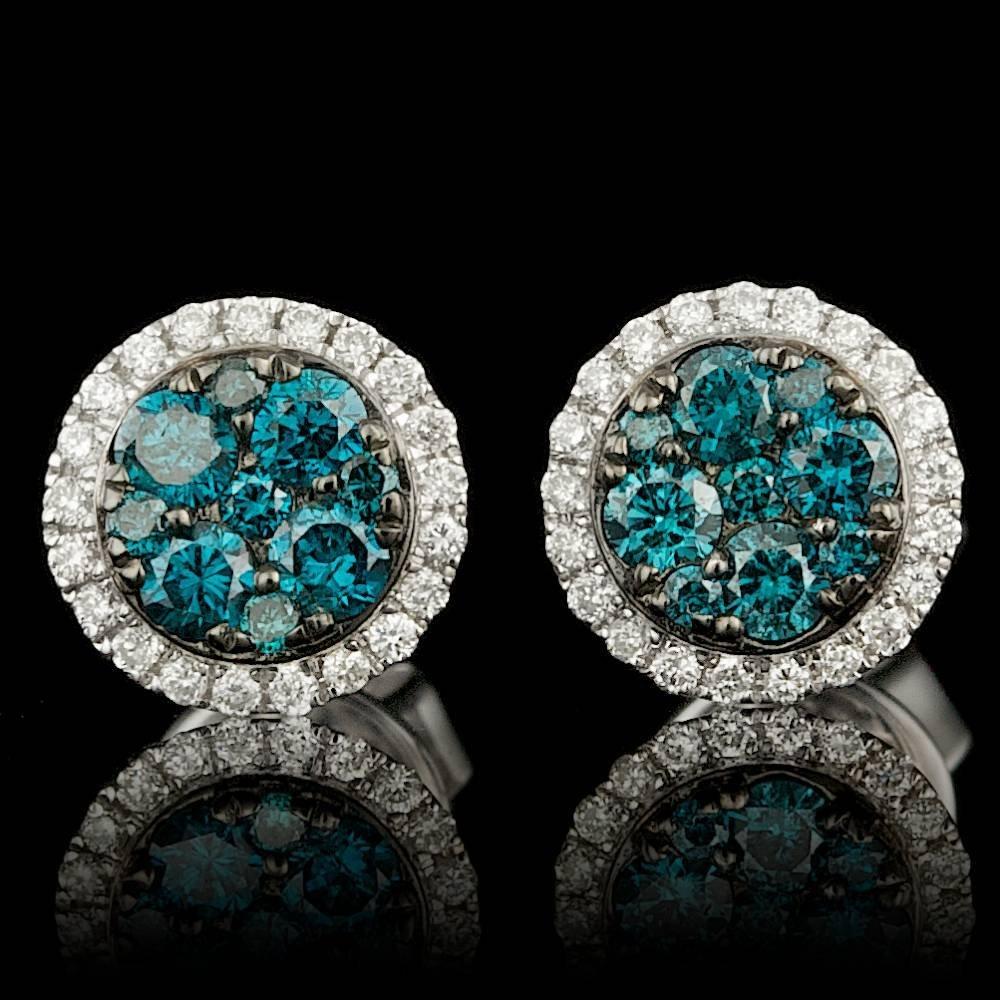 14k White Gold .5ct Diamond Earrings
