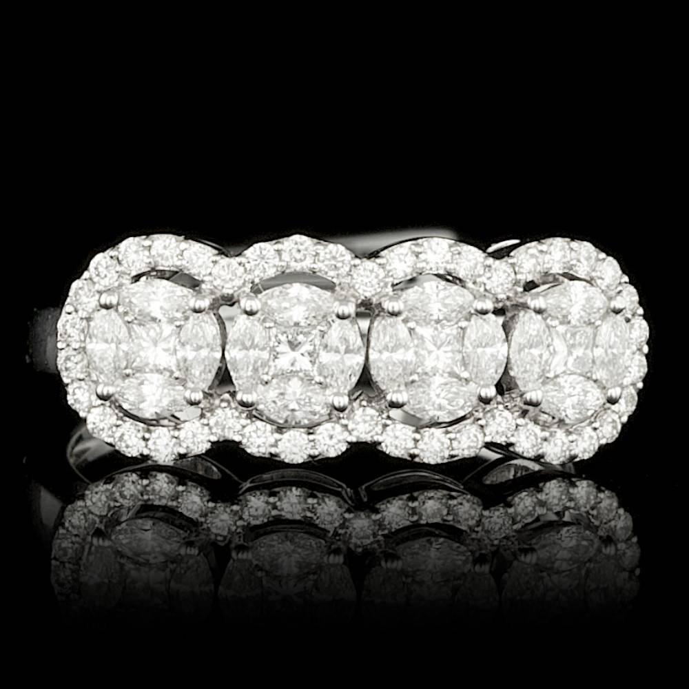 14k White Gold 1.23ct Diamond Ring