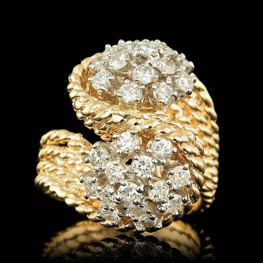 14K Yellow Gold 1.40ct Diamond Ring