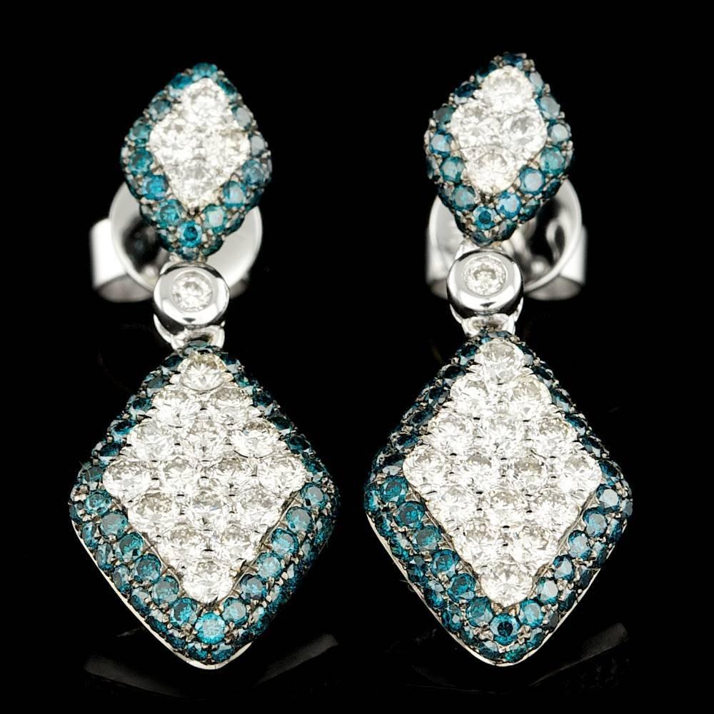 14k White Gold 1.83ct Diamond Earrings