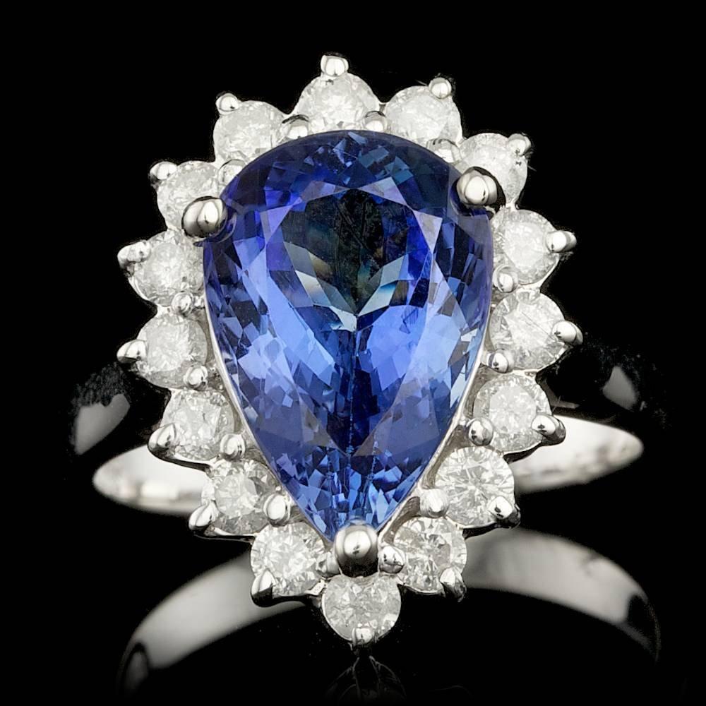 14k Gold 4.50ct Tanzanite 0.90ct Diamond Ring