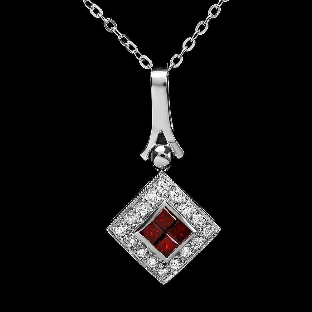 14k White Gold .67ct Diamond Pendant