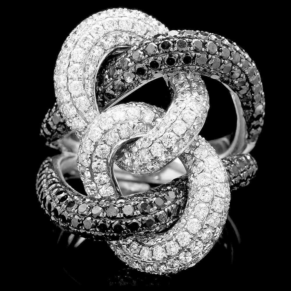 18k White Gold 5.3ct Diamond Ring