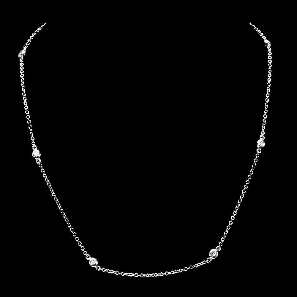 18k White Gold 0.60ct Diamond Necklace
