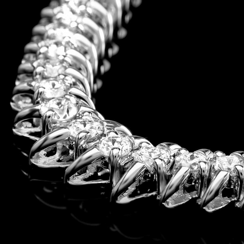 14k White Gold 5.00ct Diamond Necklace - 2
