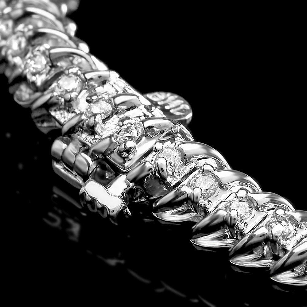 14k White Gold 5.00ct Diamond Necklace - 3