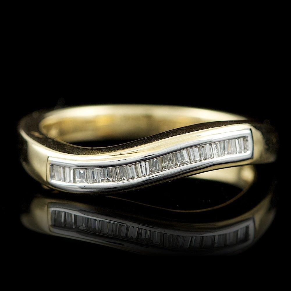 14k Multi-Tone Gold 0.25ct Diamond Ring