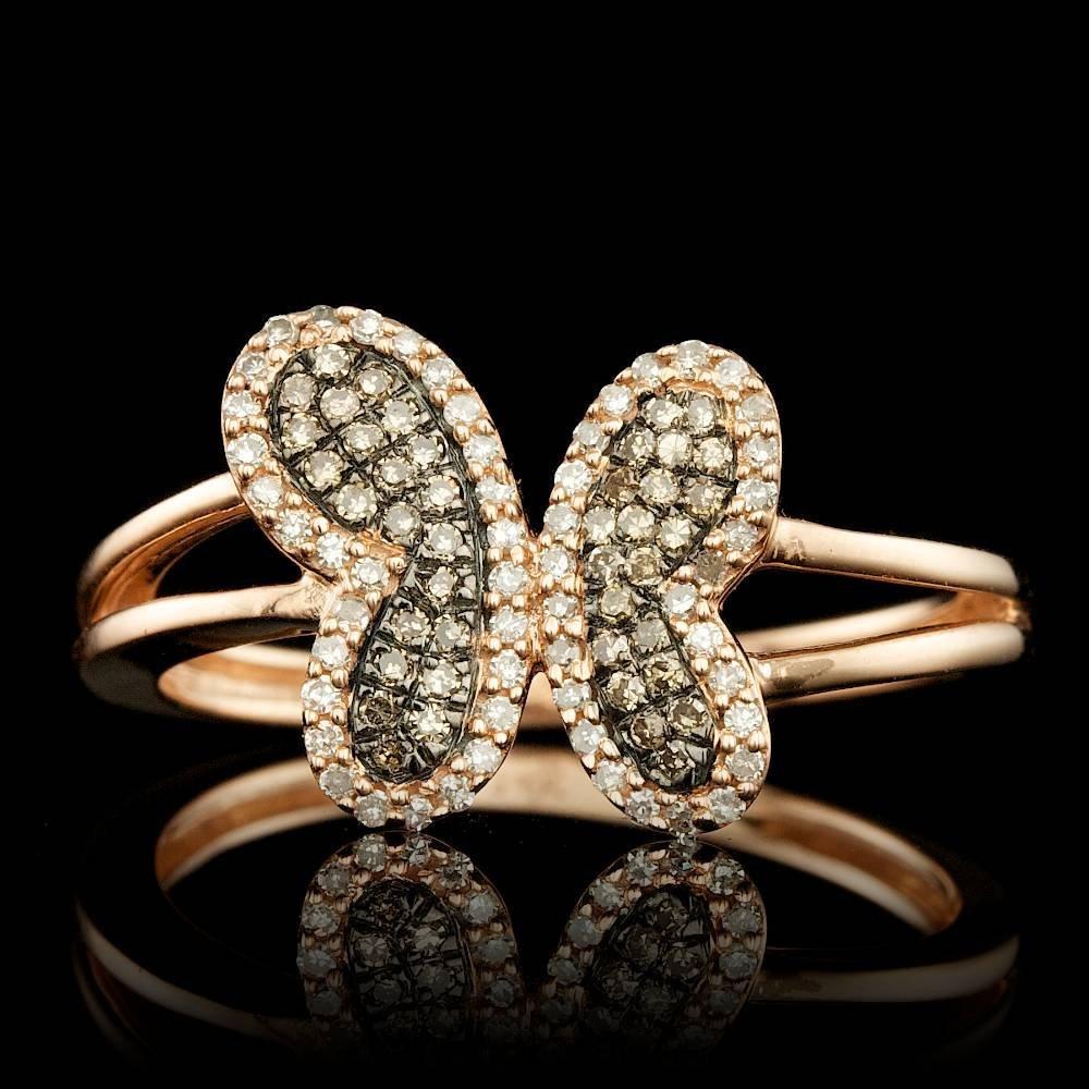 14k Rose Gold .3ct Diamond Ring