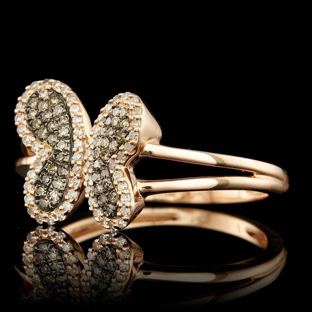 14k Rose Gold .3ct Diamond Ring - 2