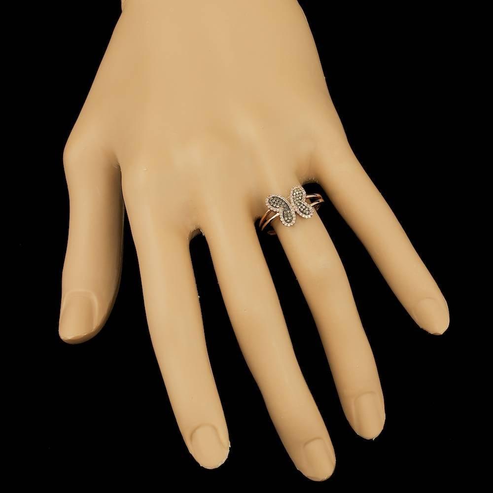 14k Rose Gold .3ct Diamond Ring - 3