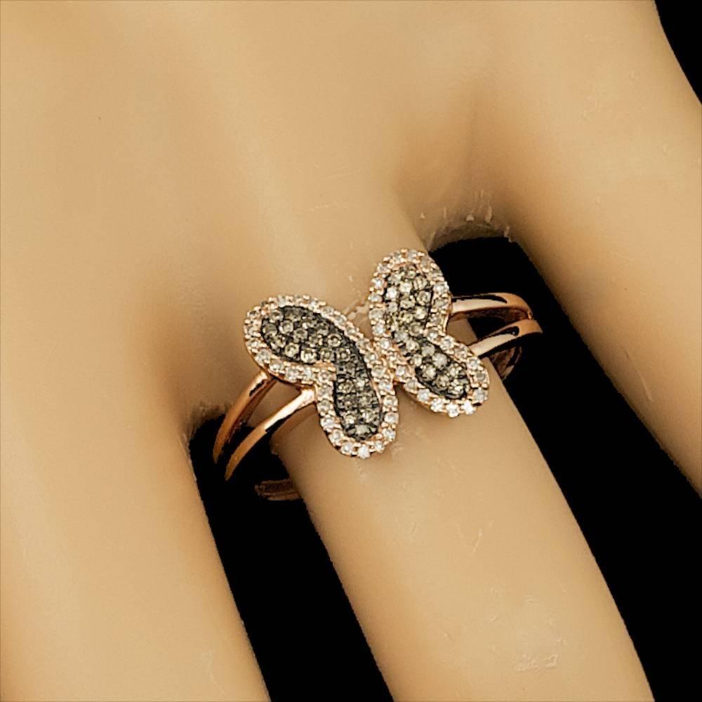 14k Rose Gold .3ct Diamond Ring - 4