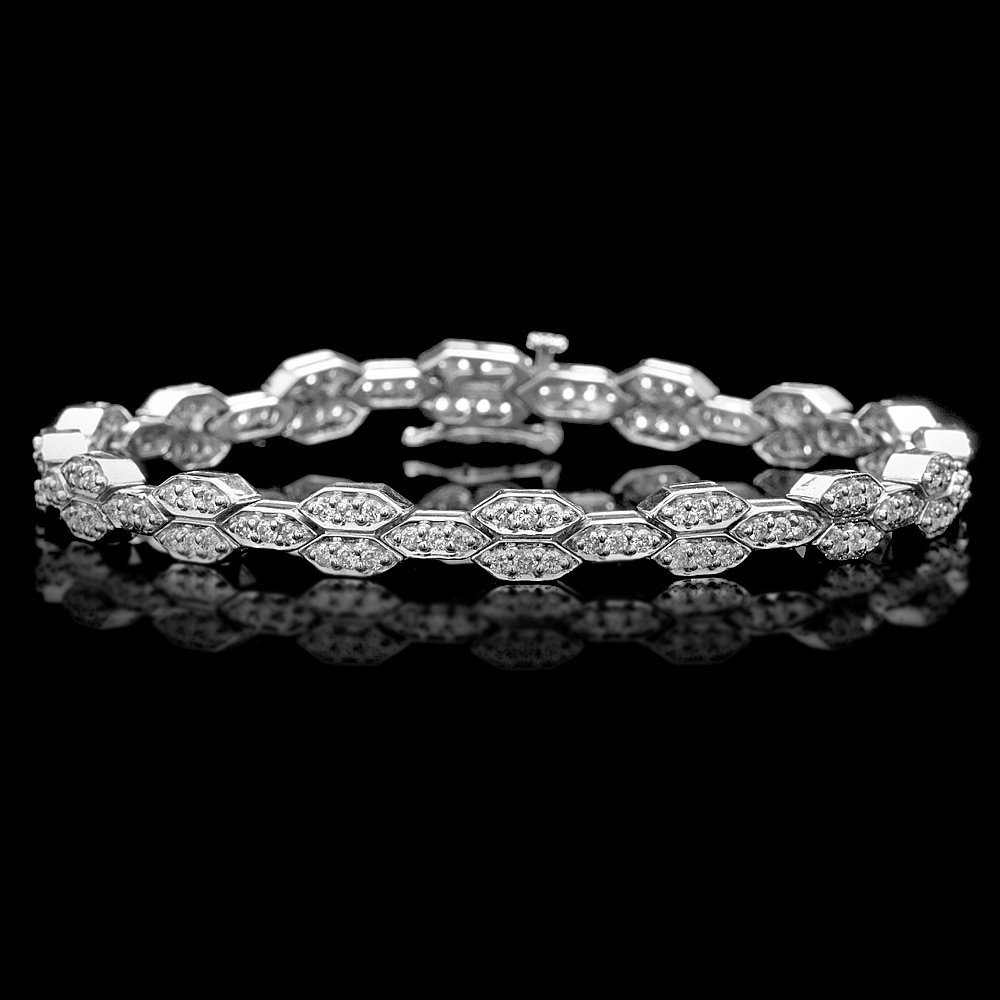 14k White Gold 2.25ct Diamond Bracelet