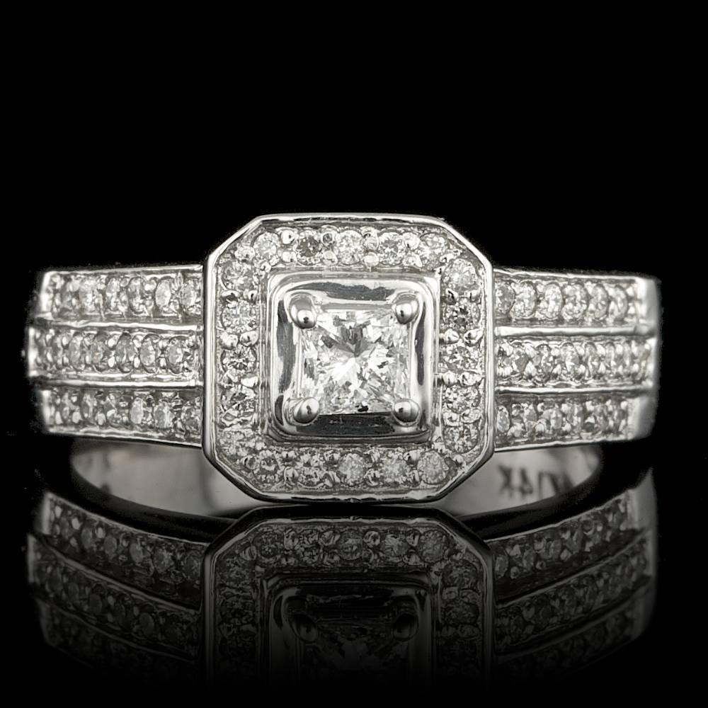 14k White Gold .9ct Diamond Ring